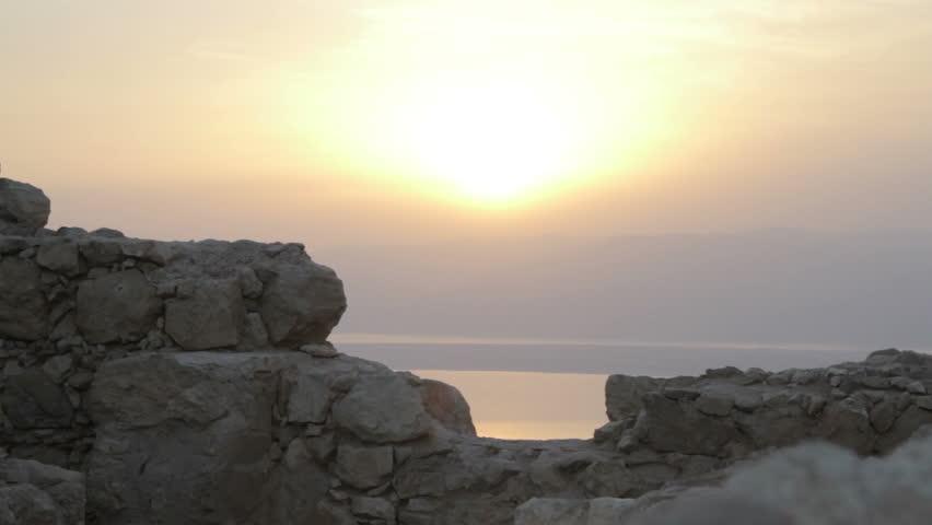 Masada fortress sunrise. Israel