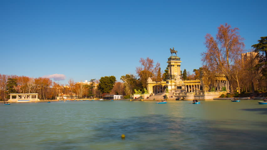The Buen Retiro Park. Madrid. Stock Footage Video 3488354 - Shutterstock
