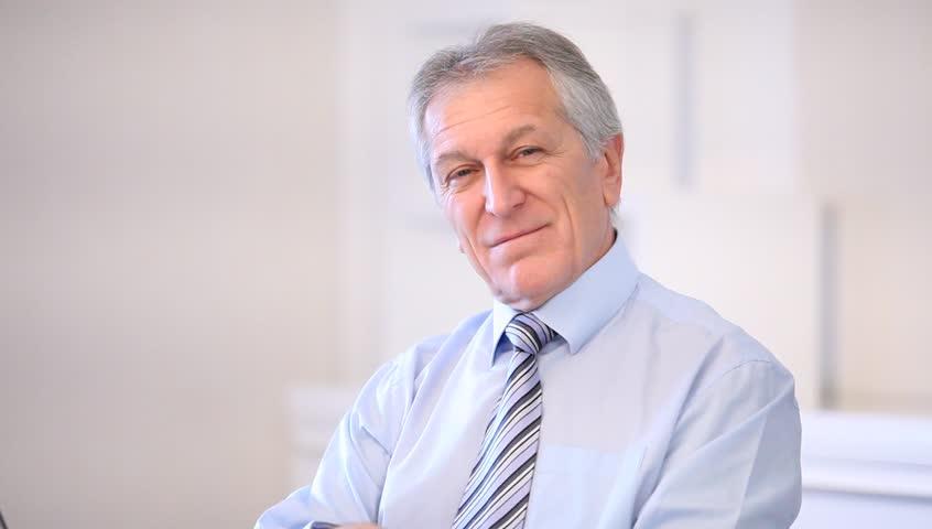 Closeup of senior businessman