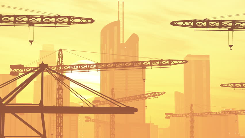 Construction zone area stock footage video 4088527 for Definition construction