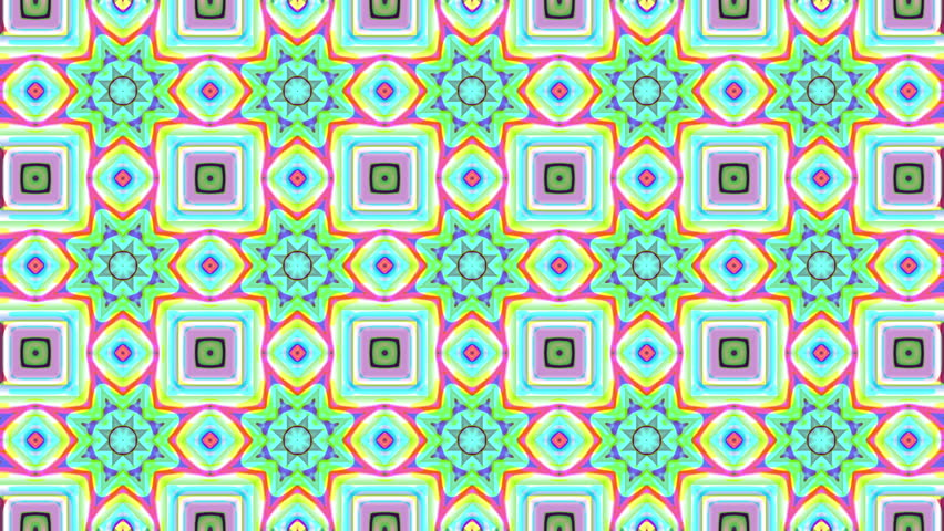 Abstract Kaleidoscope Loop - 4k Energetic colorful animation of shapes in a Kaleidoscope form - Seamless Loop 4k - 4K stock footage clip