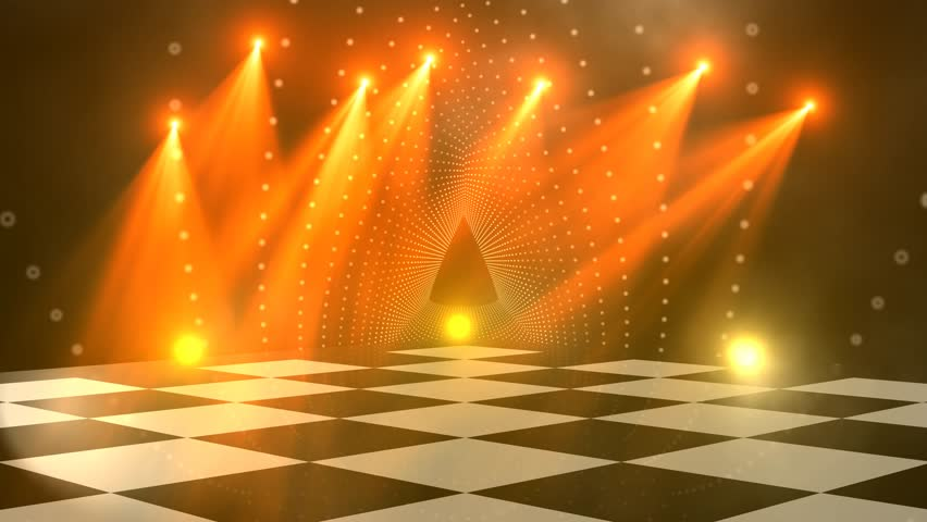 virtual studio disco dance floor background for use with