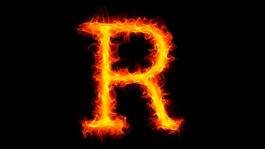 Letter R On Fire Stock Footage Video 1034806 - Shutterstock