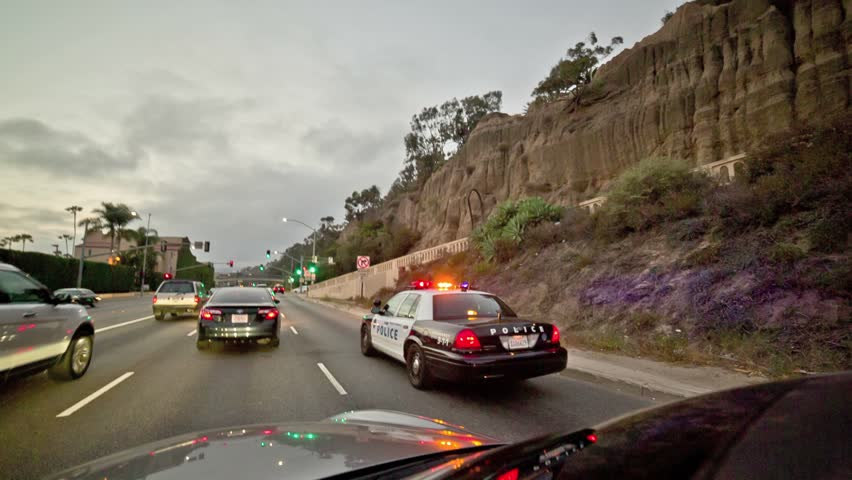 Pulled Over On Highway : Los angeles may  two kids pulled over getting