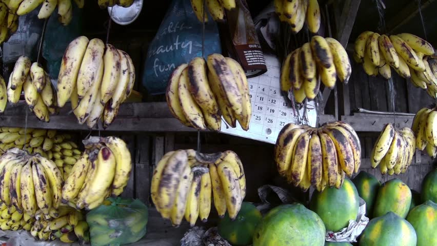 PHILIPPINES, ILO ILO -  30 MAY 2013: Bananas at Asian food market
