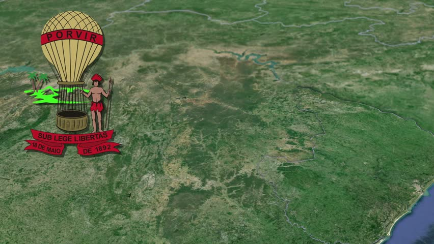 Sergipe white Coat of arms animation map States of Brazil Sergipe white Coat of arms animation map