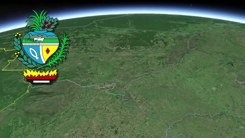 Goias white Coat of arms animation map States of Brazil Goias white Coat of arms animation map