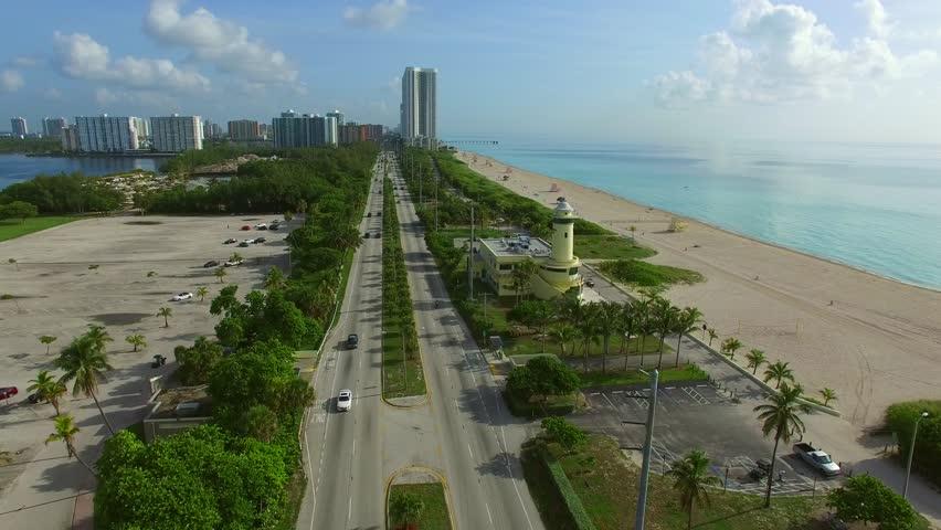 Aerial video of Haulover Beach Miami FL - 4K stock video clip
