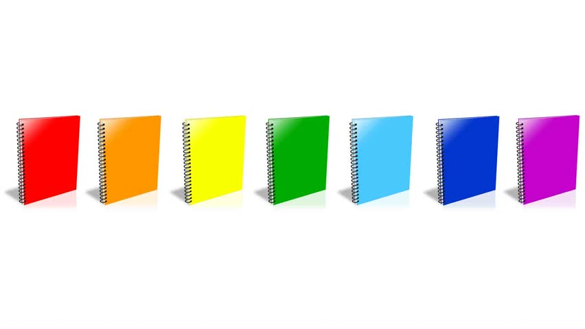 Conceptual video - choose the color of the Binder. ENDLESS LOOP - HD stock video clip