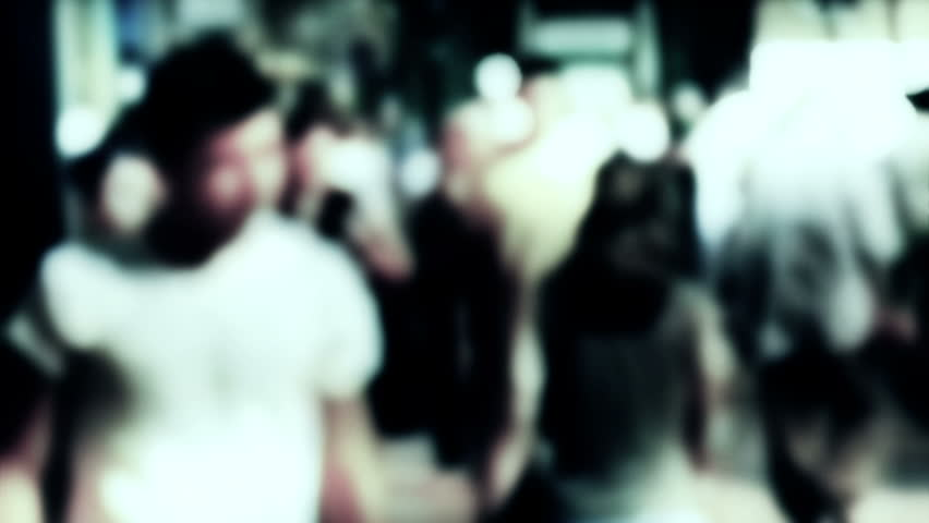 Crowd, slow motion, blurred