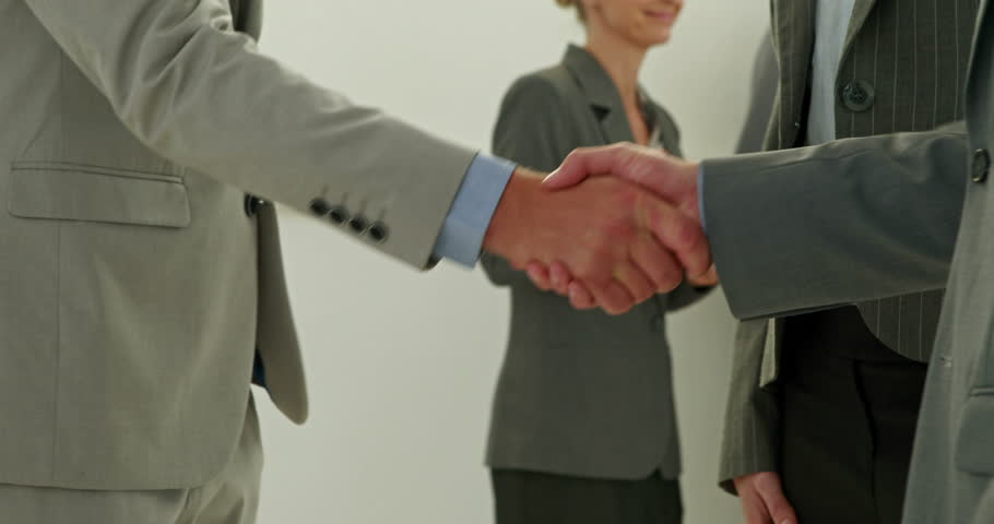 Video of business people team shake hands - 4K stock footage clip