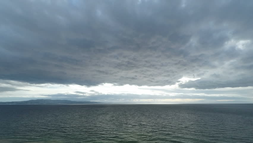 Time Lapse Video of Dramatic Sky and Sea Horizon