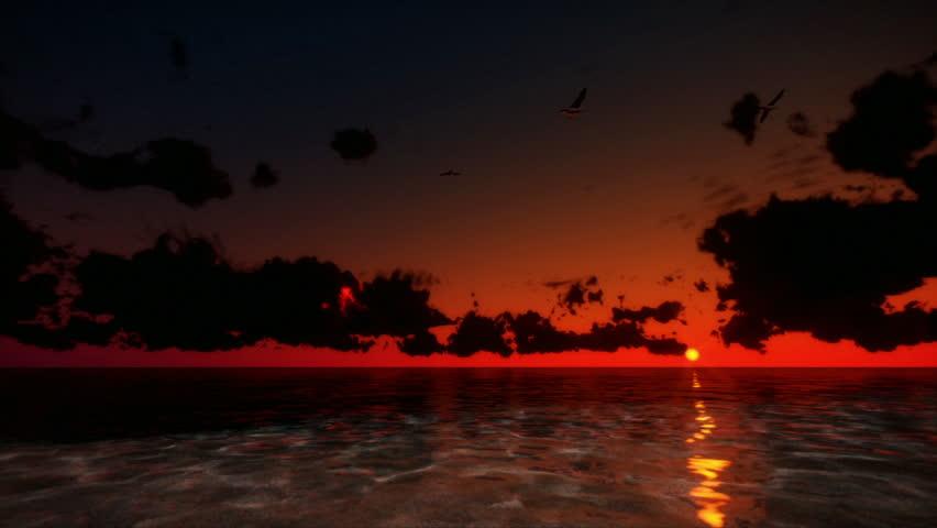 Tropical Sunrise Time Lapse