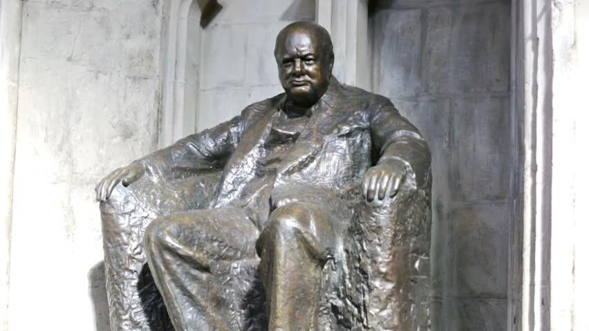 Statue of Winston Churchill, London, Great Britain