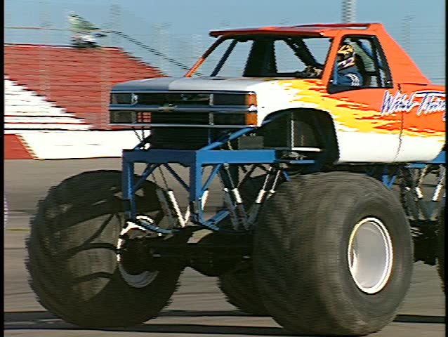 monster truck (good audio) - SD stock footage clip