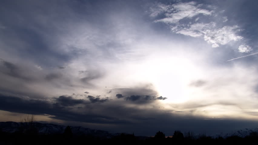 A Cloud time-lapse in the Beautiful Utah Sky (1080/24p) - HD stock video clip