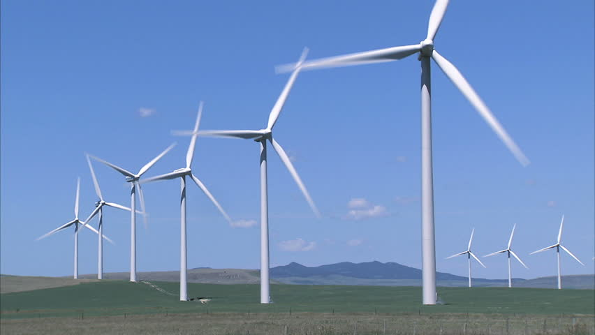 Wind Turbines - HD stock footage clip