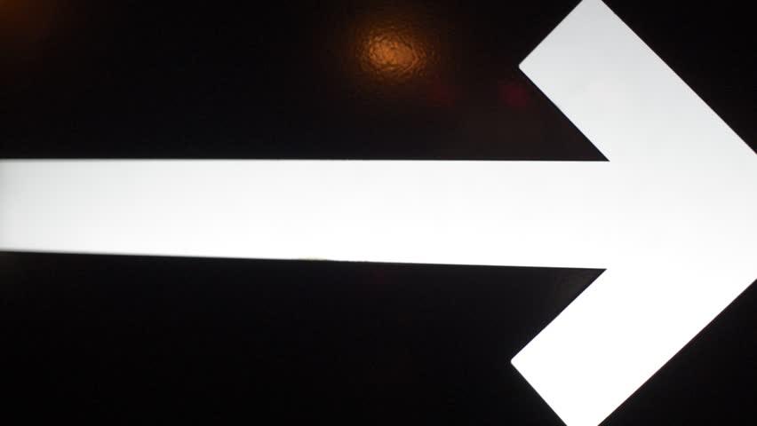 arrow exhibit white in night