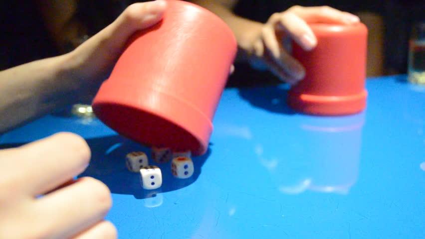 Snake eyes poker player