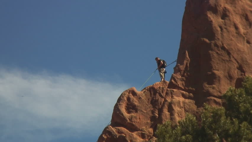 Rock Climbing In Garden Of The Gods Colorado Springs Stock Footage Video 132319 Shutterstock