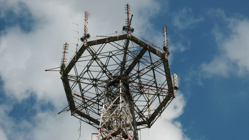 Communication tower - HD stock footage clip