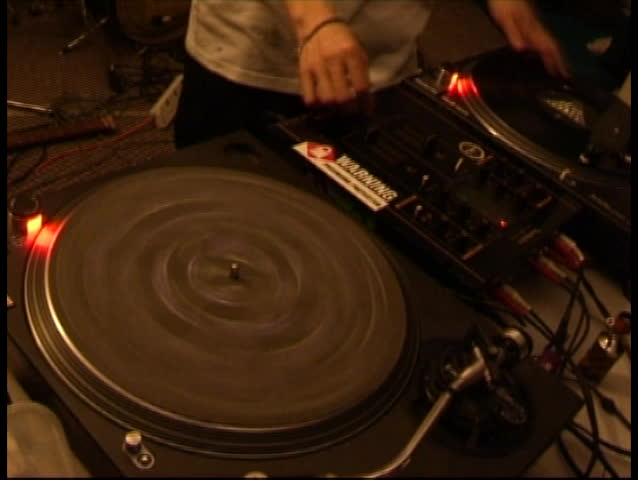 classic turntable - SD stock footage clip
