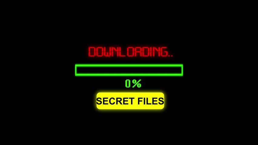 Progress bar downloading secret files