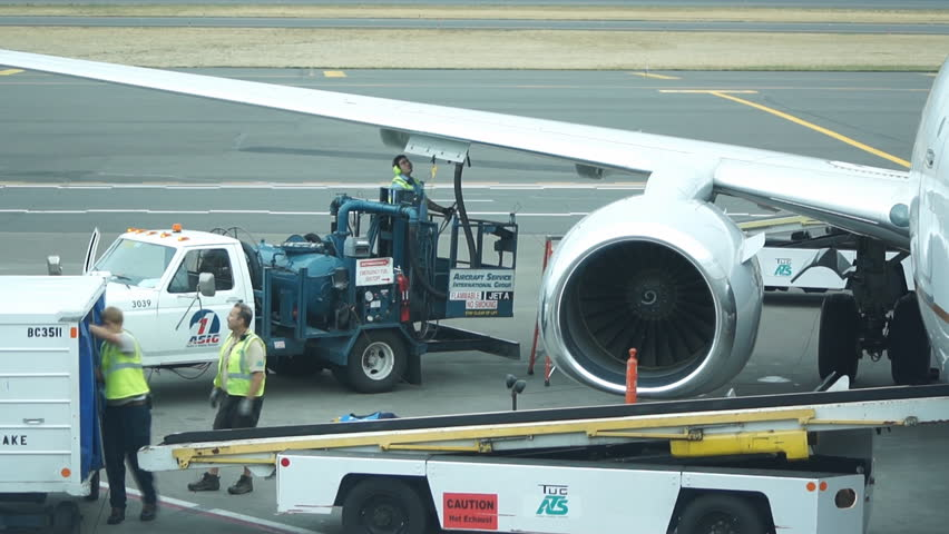 PORTLAND - SEPTEMBER 24: (Timelapse View) Baggage loading, September 24, 2011, USA. Portland International Airport is accounting for 90% of passenger travel and more than 95% of air cargo of Oregon state.