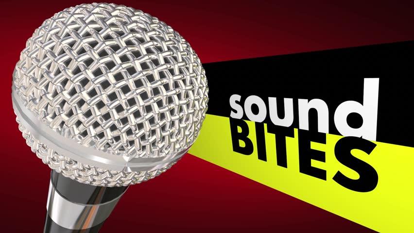 Sound Bites Microphone Quotes Quick Testimonials