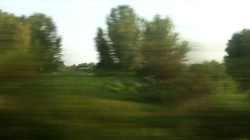 View from train Window, full HD video, 1920X1080 No#4 - HD stock video clip