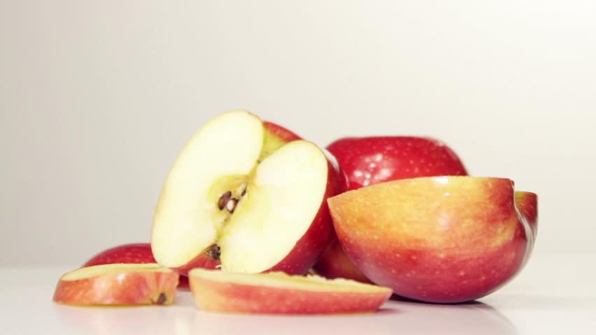 Rotating Red Apple - Overhead