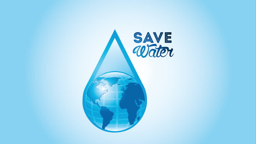Water icon design, Video Animation