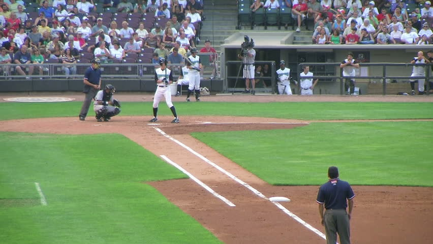 Batter strikes out 02 hd stock video clip for High chair net catcher