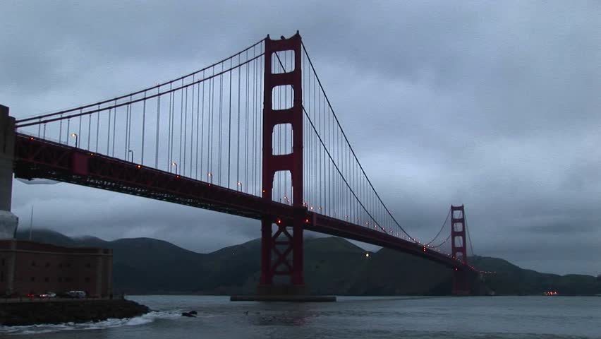 Golden Gate Bridge stretches to Marin headlands