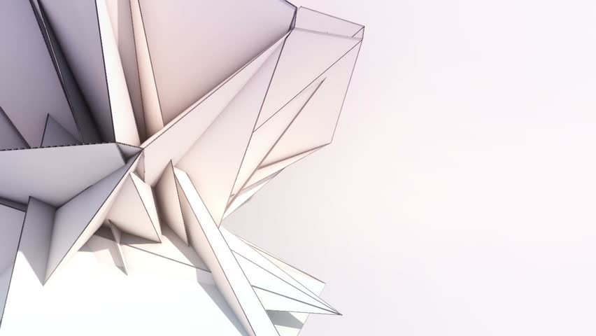 Triangle Paper Origami Background - Left Single