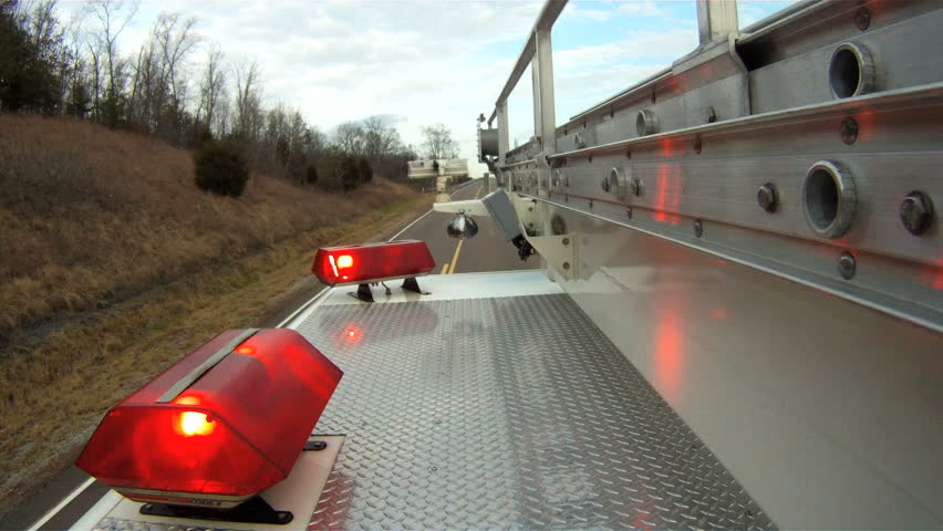 View from on top of fire truck
