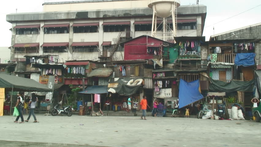 MANILA,  PHILIPPINES - DECEMBER 25, 2010: A street In Manila, Philippines