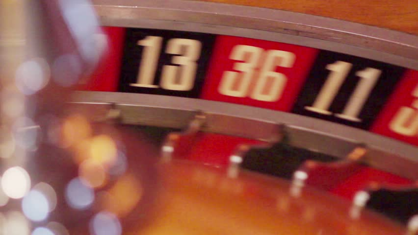 part of a turning roulette wheel - big numbers
