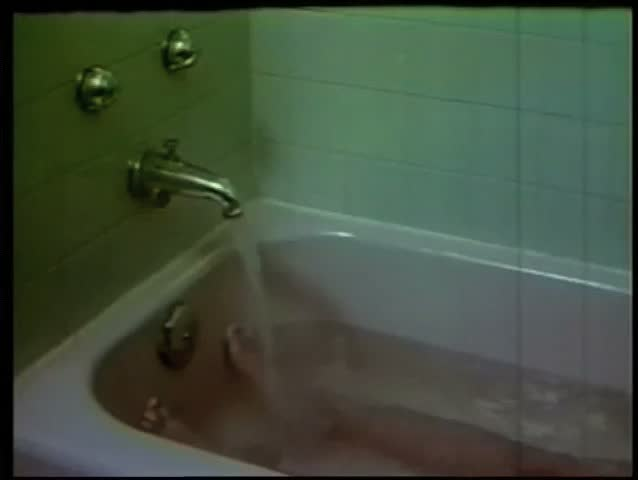 bathtub water coming out of faucet and turning red as person bathes stock footage video 1850908. Black Bedroom Furniture Sets. Home Design Ideas