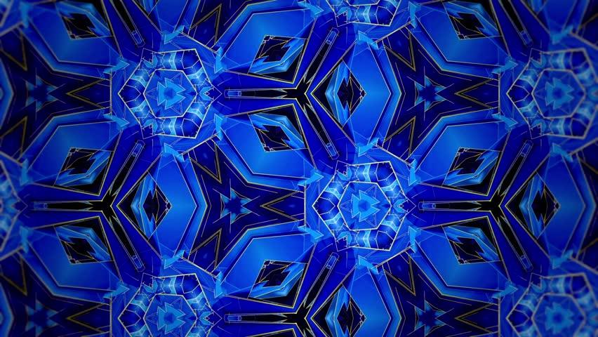 Blue - Kaleidoscope - Macro