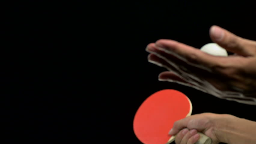 Slo-motion ping pong serve