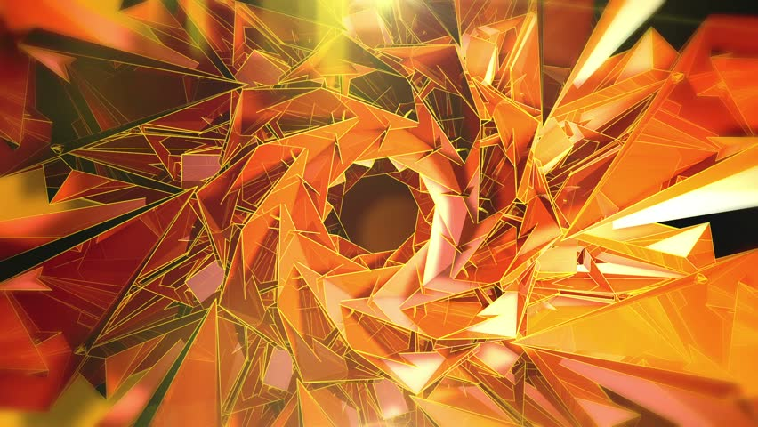 Abstract Background - Triangle - Orange - 1