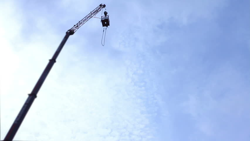 bungee jumping from very high - HD stock video clip