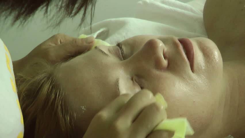 massage, mask - HD stock footage clip