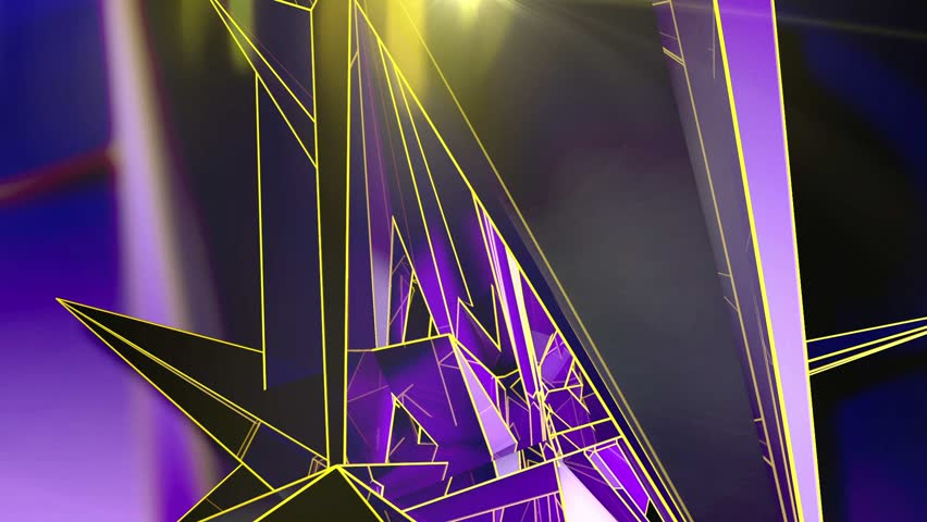 Abstract Background - Triangle - Purple - 5