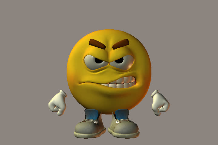 Animation Of An Emoticon Character With Various Happy ...