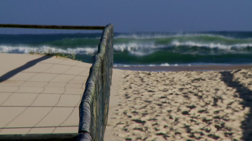 Entrance to Kirra Beach, gold Coast, QLD - HD stock video clip