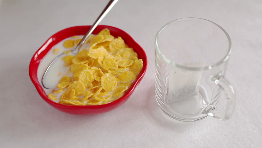 Healthy Breakfast - HD stock footage clip