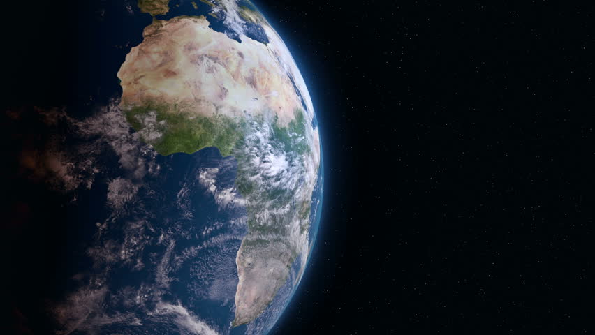 Earth view from space. Africa.