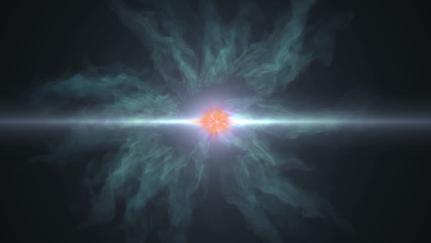 The Big Bang.The birth of life, represented by a huge explosion and the creation of universe.